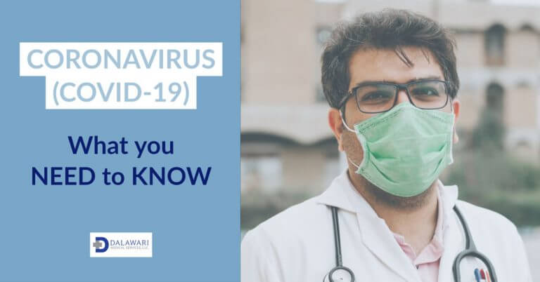 coronavirus health professional wearing a mask.